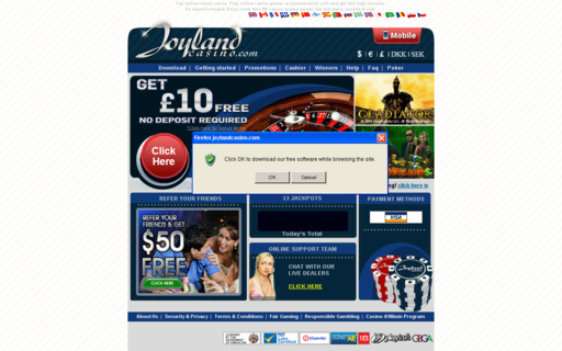 Access www.joylandcasino.com using Hola Unblocker web proxy