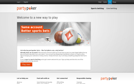 Access www.partybets.com using Hola Unblocker web proxy