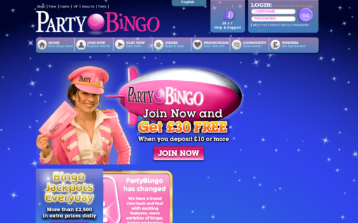 Access www.partybingo.com using Hola Unblocker web proxy