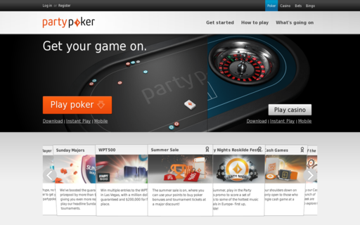 Access www.partypoker.com using Hola Unblocker web proxy