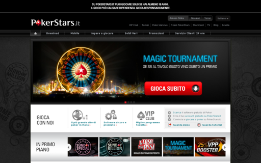 Access www.pokerstars.it using Hola Unblocker web proxy