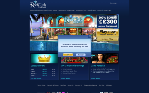 Access www.reefclubcasino.com using Hola Unblocker web proxy
