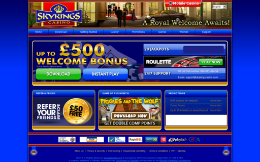 Access www.skykingscasino.com using Hola Unblocker web proxy