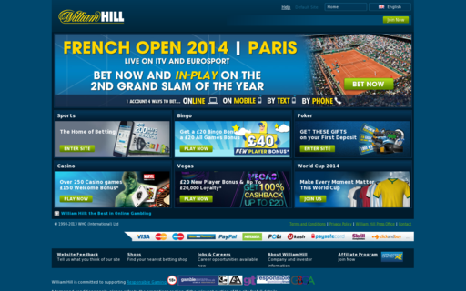 Access www.williamhill.com using Hola Unblocker web proxy