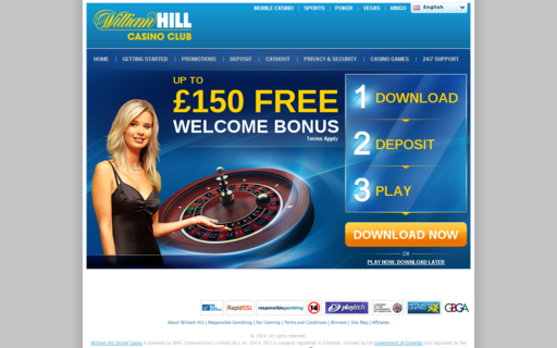 Access www.williamhillcasino.com using Hola Unblocker web proxy