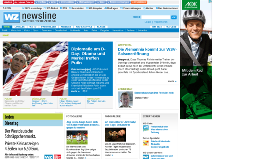Access wz-newsline.de using Hola Unblocker web proxy