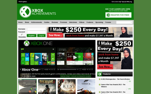 Access xbox360achievements.org using Hola Unblocker web proxy