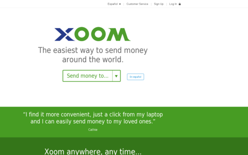 Access xoom.com using Hola Unblocker web proxy