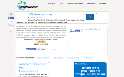 Access xperienc.com using Hola Unblocker web proxy