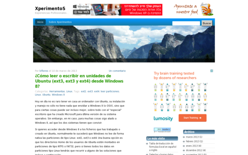 Access xperimentos.com using Hola Unblocker web proxy