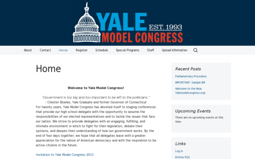 Access yalemodelcongress.org using Hola Unblocker web proxy