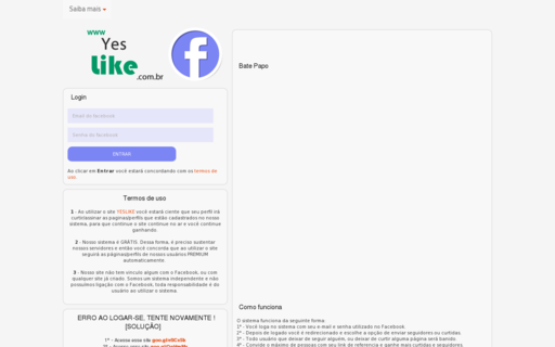 Access yeslike.com.br using Hola Unblocker web proxy