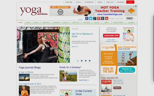 Access yogajournal.com using Hola Unblocker web proxy