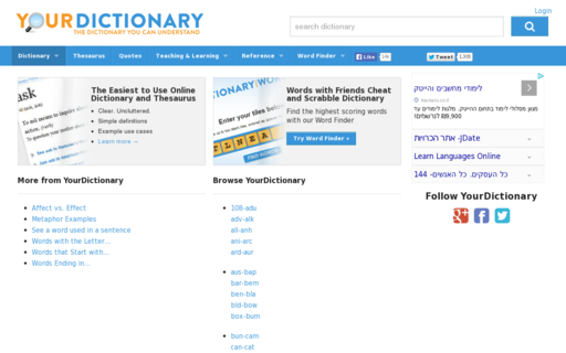 Access yourdictionary.com using Hola Unblocker web proxy