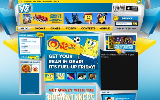 Access ytv.com using Hola Unblocker web proxy
