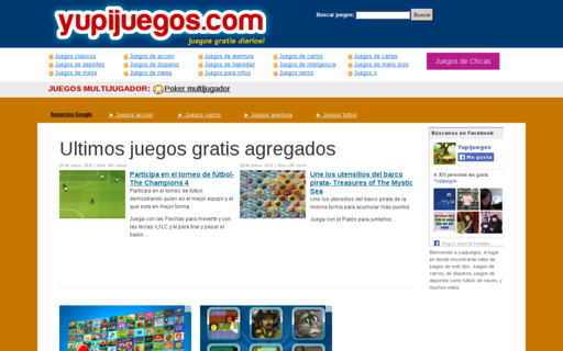 Access yupijuegos.com using Hola Unblocker web proxy