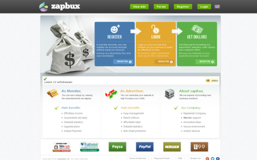 Access zapbux.com using Hola Unblocker web proxy