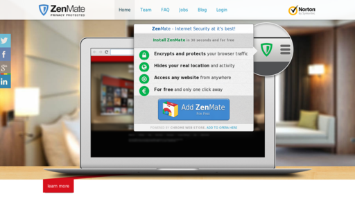 Access zenmate.com using Hola Unblocker web proxy