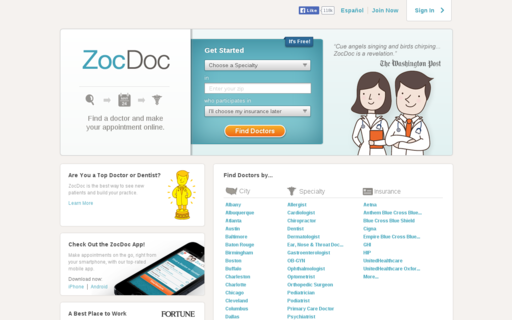 Access zocdoc.com using Hola Unblocker web proxy