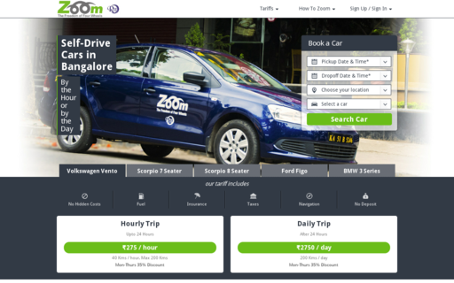 Access zoomcar.in using Hola Unblocker web proxy