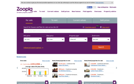 Access zoopla.co.uk using Hola Unblocker web proxy